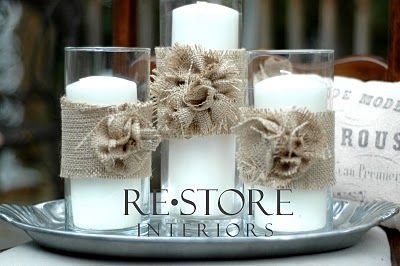 good tutorial on working with burlap..burlap rosettes for wreaths