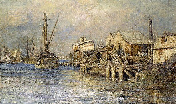 The Old Slip, Williamstown--Frederick McCubbin (Australia)