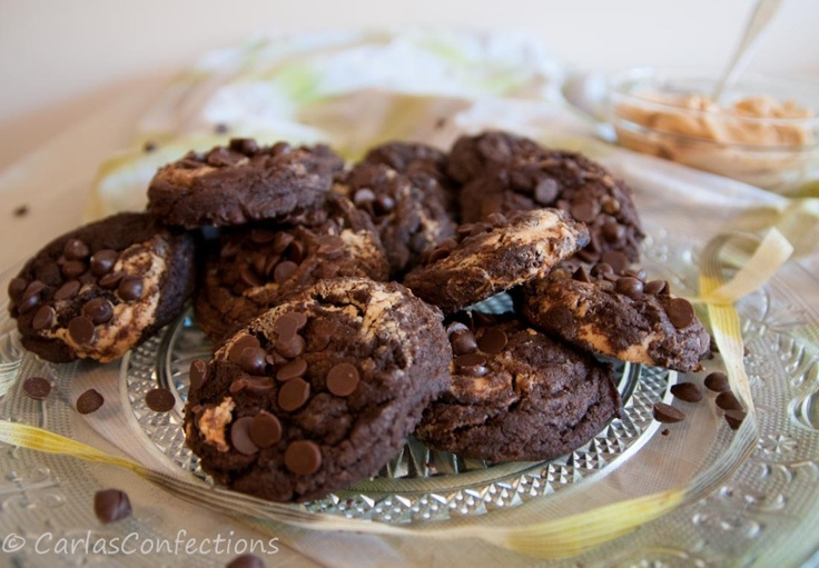 Carla's Confections: Chocolate Chunk Peanut Butter Swirl Cookies http ...