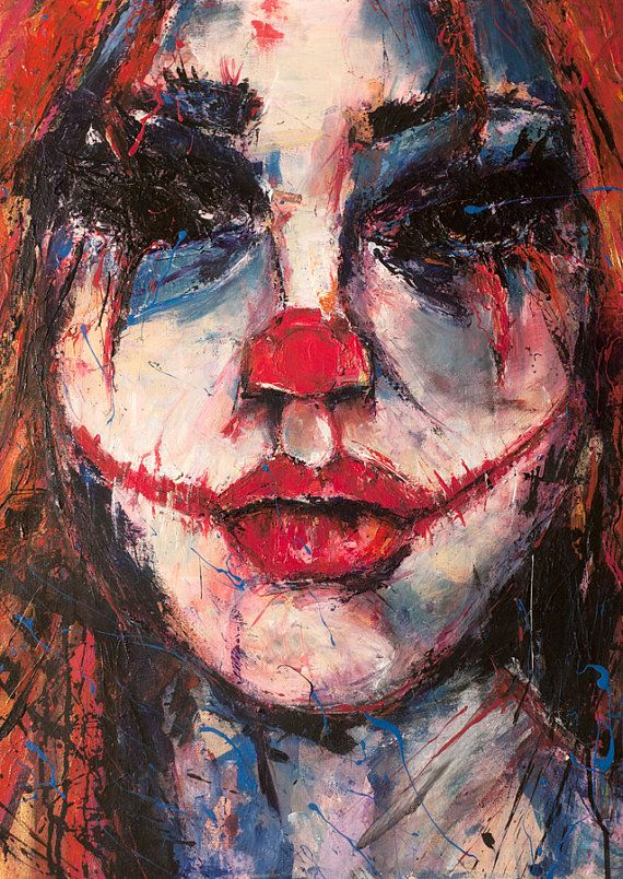 """Woman Modern expression by Anna Bulka. Original figural painting with acrylic on canvas by. Title: """"faith"""" from my Kuchisake- Onna. Am I beautiful? series"""