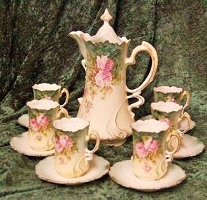 Antique Hot Chocolate Set.