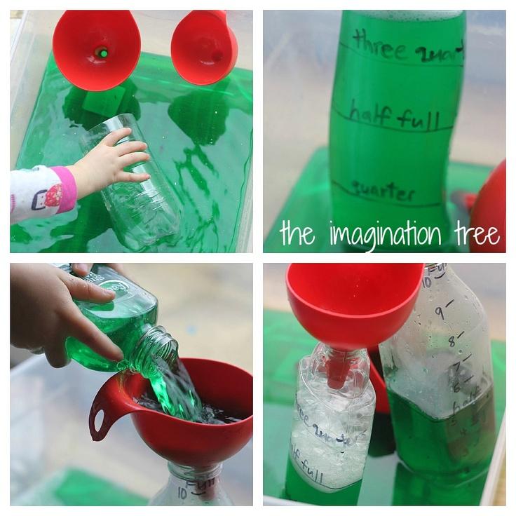 Exploring capacity w/colored water