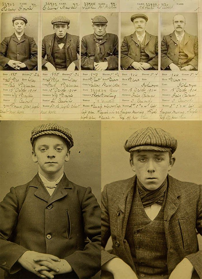 1890's Birmingham Gang Mugshots - The Real Peaky Blinders. A notorious Birmingham gang that had blades sewn into the peaks of their caps so they could use them as weapons.