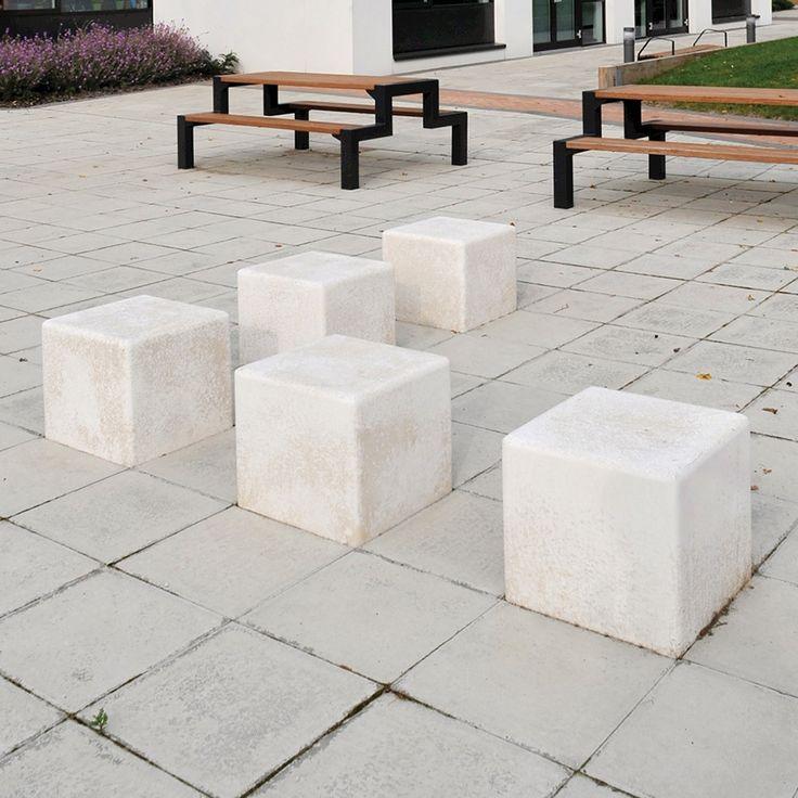 Harpurhey Square Concrete Cube Seat Broxap Landscape L Street Furniture Pinterest