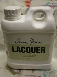 Lacquer meant to be used over wood or concrete floors painted with Chalk Paint® that are interior floors only. This Lacquer is NOT intended  for outside use!!!