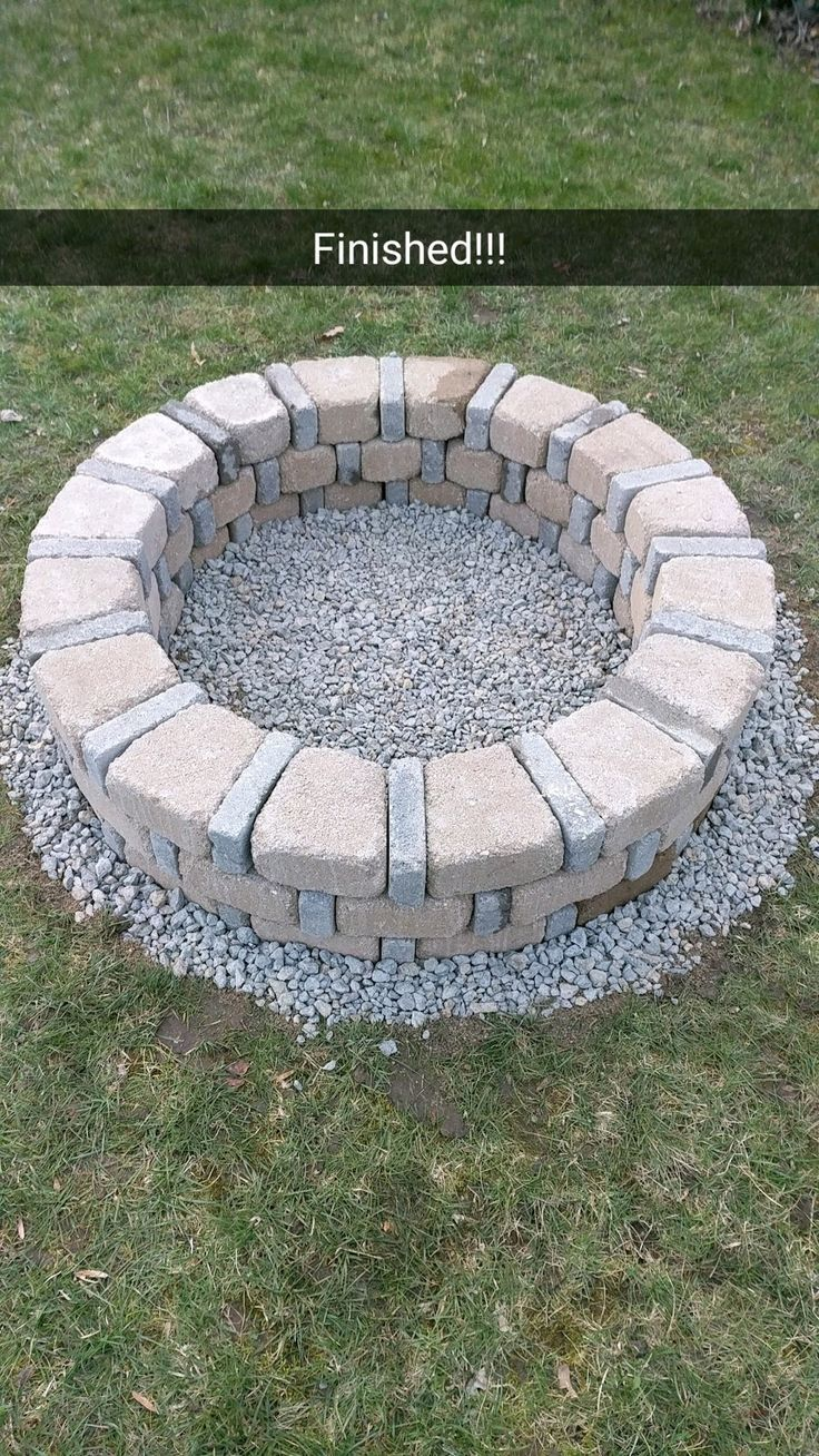 Diy Brick Fire Pit For Only 80 With Images Outdoor Fire Pit