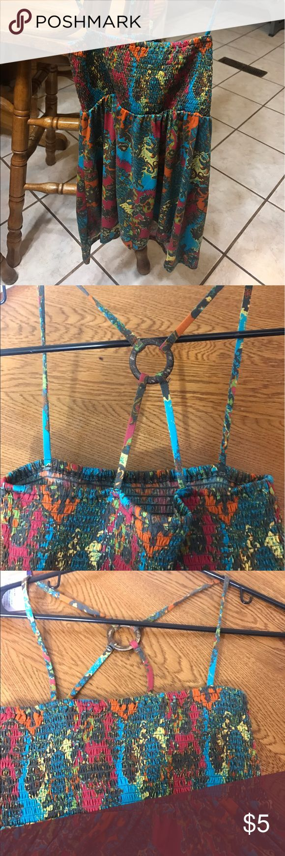 Weaver Strappy Top Weaver Multi-colored Strappy Top - Purchased from Gliks - Size Medium - Never Worn Tops Tank Tops