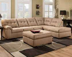 Tan Couch Padded Armrests