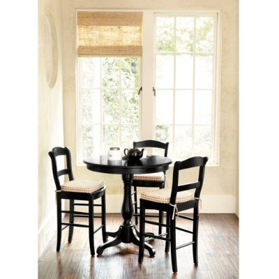 dining table set from Ballard Designs for small kitchen area.