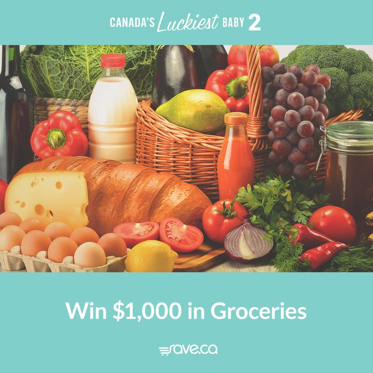 Win $1000 in groceries from save.ca to feed your growing family. It's only part of what you  could win when you enter Canada's Luckiest Baby http://canadasluckiestbaby.com #CLB2