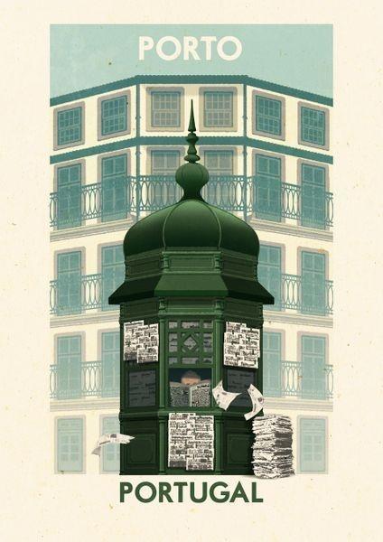 'Porto, Kiosk - Portugal' by Rui Ricardo on artflakes.com as poster or art print $27.72