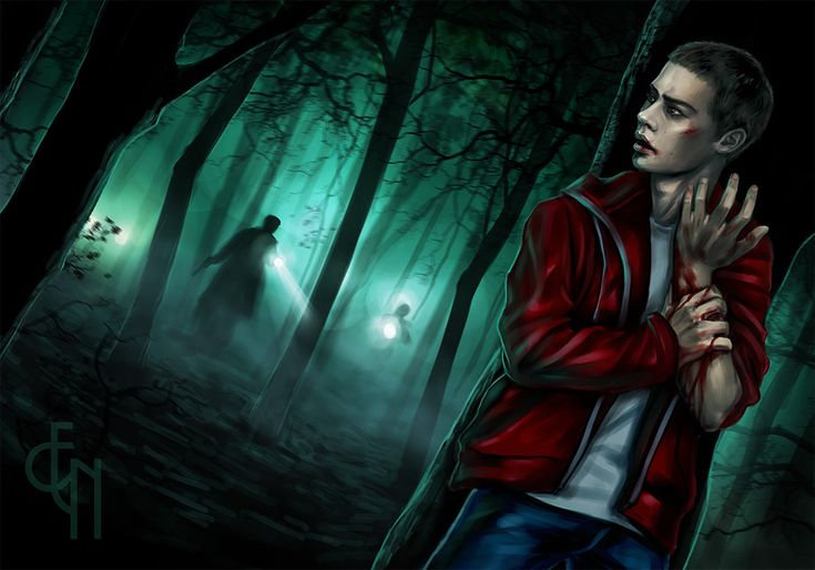 Teen Wolf - Stiles Stilinski - Run by ~Eneada on deviantART (Stiles Stilinski, Dylan O'Brien, Teen Wolf Fanart)  What's happening here?