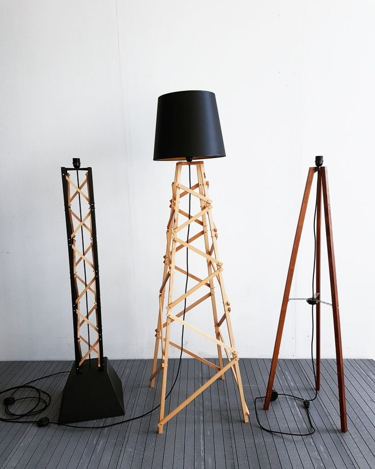 "NEW Floor Lamp Collection! Strong and big for a fine industrial space  The ""Pergel"" tripod, The ""Kula"" tower, The ""Stvol"" pillar. Available soon."