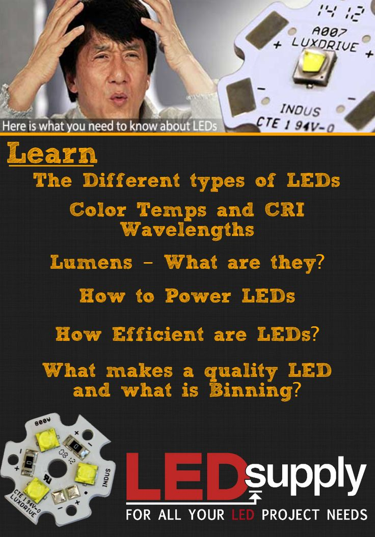 Want to know more about LEDs? Here's a great resource for LED basics and what to look for when buying them.