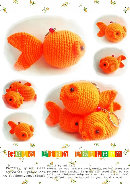 Free Amigurumi Goldfish Pattern : Top 25 ideas about Crochet fish on Pinterest Fishing ...
