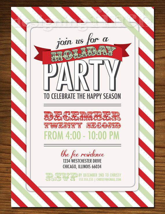 Best Christmas Party Invitation Ideas Images On