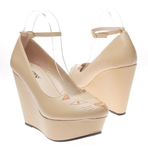 'Caramel latte heavy cream no milk'' ankle strap #wedges #cat  #shoes @kittypurring www.purrfor.me