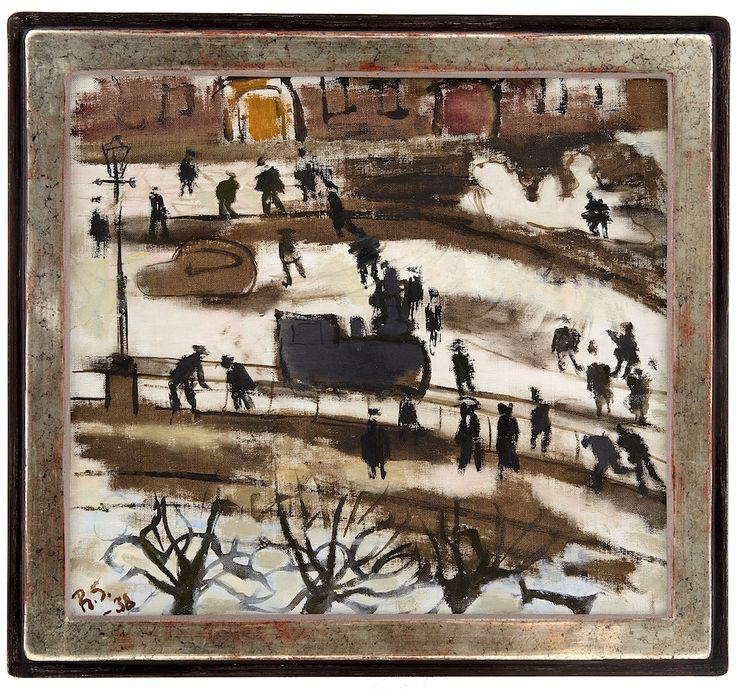 BO FRANSSON: RAGNAR SANDBERG 1902-1972 Snowy Street - Lilla...