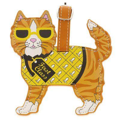 LittleGifts Cat Orange Luggage Tag - http://womens-luggage.megainfohouse.com/littlegifts-cat-orange-luggage-tag.html/