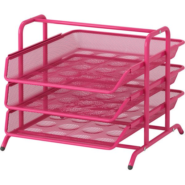 IKEA DOKUMENT Letter tray, pink (29 BRL) ❤ liked on Polyvore featuring home, furniture, office, ikea and bedroom