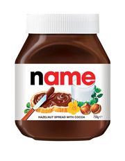 Personalised Nutella Jar 750g   myer $13.95