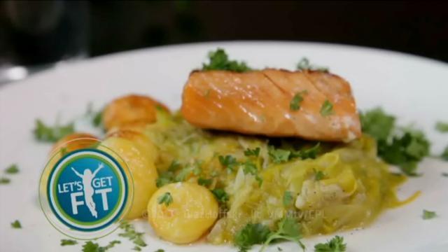 Zalm met prei en krieltjes in de oven - Recept | VTM Koken