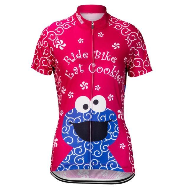 Women's Pink Cookie Monster Cycling Jersey