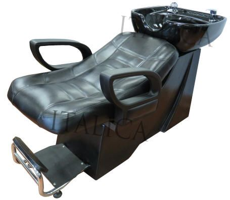 ITALICA shampoo hair washing sink lay down unit with headrest in the shampoo bowl great for bad backs