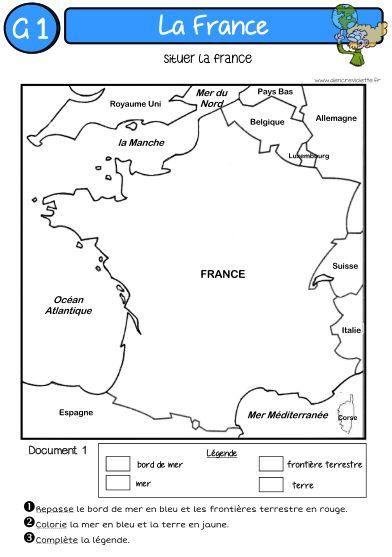 GEOGRAPHIE : LA FRANCE - A lencre violette