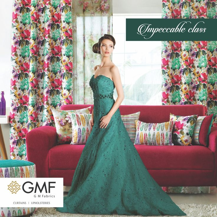 Give your #Home an #Impeccable look with our premium designed fabrics #OnlyWithGMF!! Explore more on www.gmfabrics.com #GMF #Curtains #Cushions #Upholstery #HomeDecor #HomeFabrics