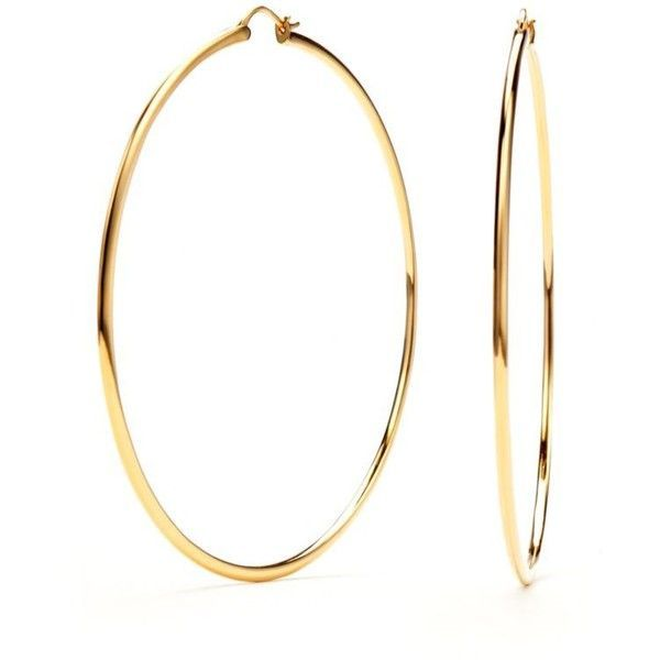 Nadri Gold Gold-Tone Extra Large Hoop Earrings ($65) ❤ liked on Polyvore featuring jewelry, earrings, gold, gold colored earrings, nadri, gold colored jewelry, nadri earrings and polishing gold jewelry