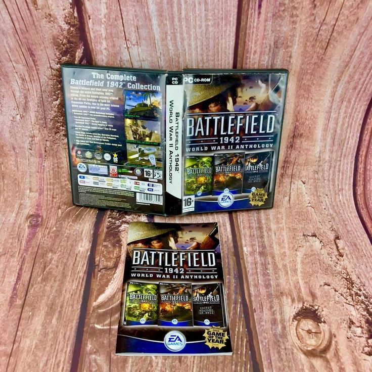 Battlefield 1942 World War II Anthology PC Game CD-Rom 2004 4 DISCS strategy 16+