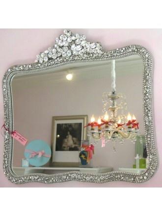 Swarovski Mirror...everyone looks a little prettier if they are framed in Swarovski! @EstellaSeraphim