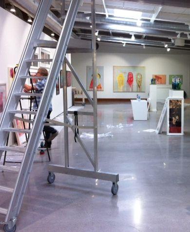 Art exhibition in progress, summer 2013.