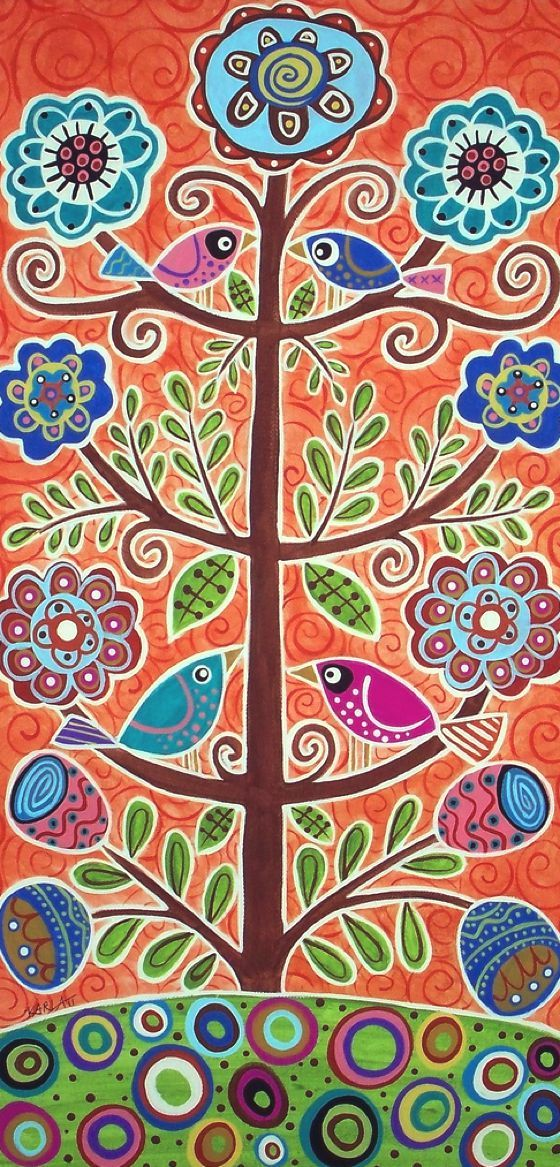 patternprints journal: NAIF PATTERNS IN FOLK PAINTINGS BY KARLA GERARD