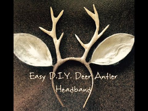 Forest Deer Fawn Antler DIY Floral Halloween Headpiece Costume - YouTube