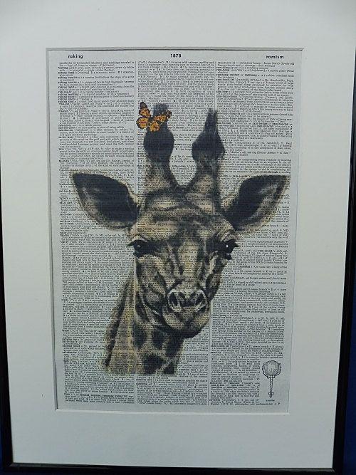 Giraffe Wall Print giraffe art giraffe poster by DecorisDesigns
