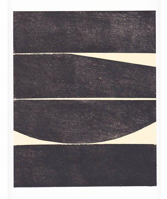 "Art Print . Minimalist. Black white + tan Decor. ""Plank 1 ..."