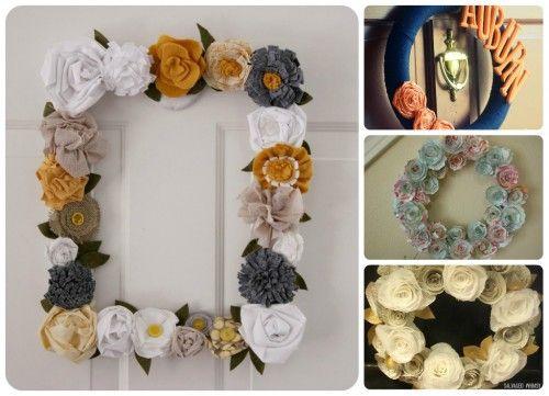 88 BEAUTIFUL WREATHS TO MAKE!Frames Wreaths, Wreaths Tutorials, 88 Beautiful, Free Pattern, Felt Flower, Wreaths Ideas, Flower Wreaths, Beautiful Wreaths, Yarn Wreaths