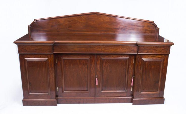 A beautiful antique Victorian flame mahogany sideboard chiffonier, circa 1860.