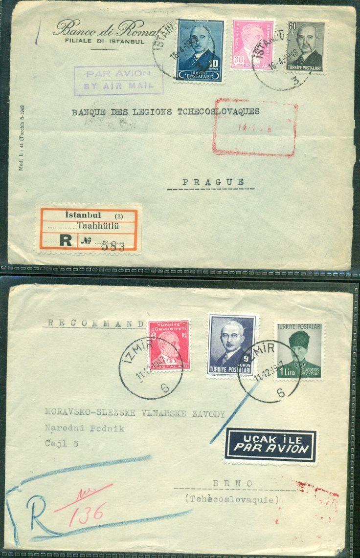 OTTOMAN TURKEY 2 COVERS REGISTERED - bidStart (item 57012707 in Stamps, Europe, Turkey)
