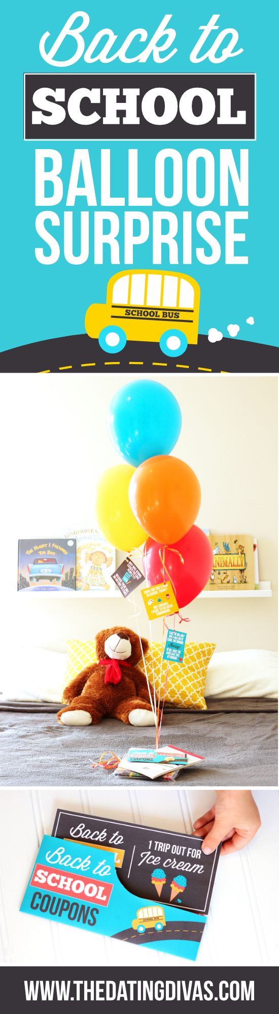 Back to School Balloon Surprise Idea to make returning to the classroom tons of…