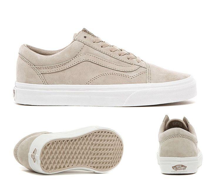 vans premium suede old skool sneakers beige