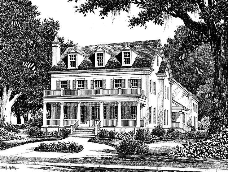 Eplans plantation house plan colonial lake cottage from for Historic colonial house plans