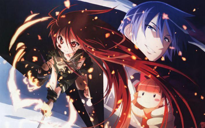 Download wallpapers Shakugan No Shana, light-novels, Chigusa Sakai, Kantaro Sakai
