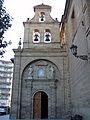The espadana (bell gable) of the Basilica de Nuestra Senora de la Vega in Haro, Spain