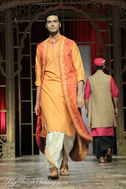 Raghavendra Rathore vibrant coloured kurta with dhoti