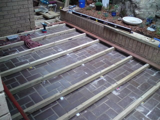 DIY Decking Over Concrete Backyard Pinterest