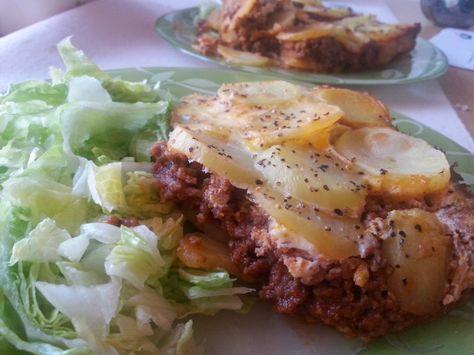 Potatismoussaka - Vid 4 portioner så är det 13 smartpoints/portion. Ni som kör mättande dag och använder 5 % nötfärs för att få 0 sp.