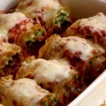 """Skinny Lasagna Rolls recently won the Today Show's Joyful Cook-Off competition. I wanted to create a recipe that takes the guess work out of """"how much is a portion""""? One of these yummy rolls is filling and only 240 calories."""